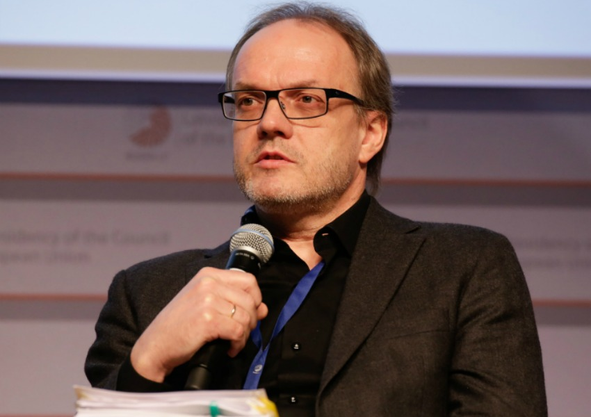 TSI researcher Karl Henrik Sivesind at NGO Forum in Riga