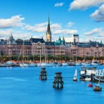 Scenic summer scenery of the Old Town in Stockhom, Sweden